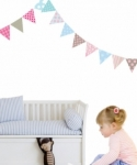 Bosco Bear - Wall Stickers Bunting 12 Pack
