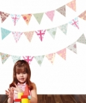 Bosco Bear - Wall Stickers Bunting Wall Decals 26 Pack