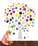 Bosco Bear - Tree of Seasons Wall Stickers