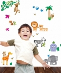 Bosco Bear - Jungle Animal Wall Stickers