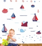 Bosco Bear - Transport Boats Afloat Wall Stickers