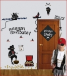 Bosco Bear - Pirates of the High Seas Wall Stickers