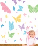 Bosco Bear - Butterfly Wall Stickers