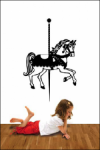 Bosco Bear - Carousel Horse Wall Stickers