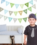 Bosco Bear - Alphabet Bunting