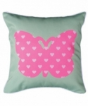 Bosco Bear - Butterflies Heart Cushion 34 x 34cm