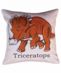 Bosco Bear - Dinosaurs Triceratops cushion 34x34cm