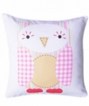 Bosco Bear - Cuddly Toys Owl Light Pink Cushion 34 x 34cm