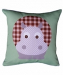 Bosco Bear - Jungle Animals Hippo Cushion 45 x 45cm