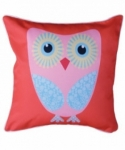 Bosco Bear - Pink and Blue Owl Cushion 45x45cm