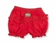 Vintage Kid - Red Ruffle Pants