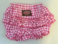 Vintage Kid - Pink Gingham Ruffle Pants