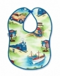 Vintage Kid - Transport Bib with Blue Binding