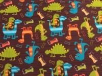 Vintage Kid - Dinosaur Dudes Bib Red Binding