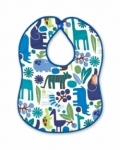 Vintage Kid - Blue Zoo Bib with Blue Binding