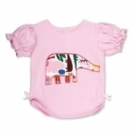 Vintage Kid - Pink Zoo T shirt Elephant