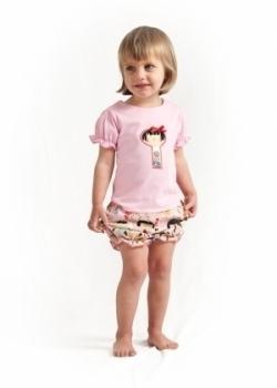Vintage Kid - Yui Kosheshi T Shirt Light Pink