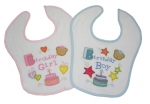 Plum - Embroidery / Applique Birthday Bibs