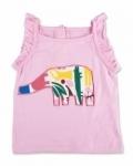 Vintage Kid - Pink Elephant Singlet