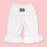 Vintage Kid - White Long Ruffle Pants