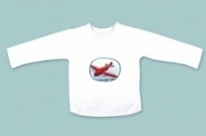 Vintage Kid - Blue Plane Red Long Sleeve Shirt