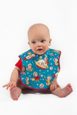 Vintage Kid - Retro Space Bib