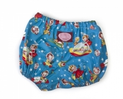 Vintage Kid - (Retro Space) Retro Rocket Rascals Nappy Cover