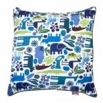 Vintage Kid  - Blue Zoo Cushion