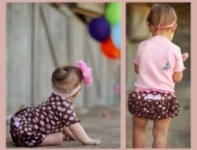 RuffleButts - Bloomer Chocolate Bubbles size  4-5 yrs left!