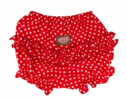 Vintage Kid - Red Dot Ruffle Pants