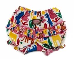 Vintage Kid - Pink Zoo Ruffle Pants