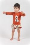 Vintage Kid -Lil Cowpoke Long Sleeve T Shirt in Rust