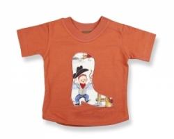 Vintage Kid-Lil Cowpoke Short Sleeve T Shirt (Rust)