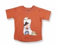 Vintage Kid-Lil Cowpoke Short Sleeve T Shirt (Rust)
