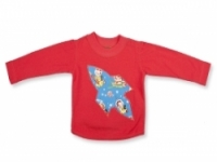 Vintage Kid- Retro Space Long T Shirt in Red