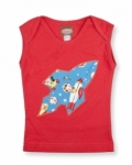 Vintage Kid- Retro Space Singlet in Red